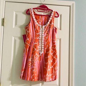 Lily Pulitzer Orange and Pink Dress